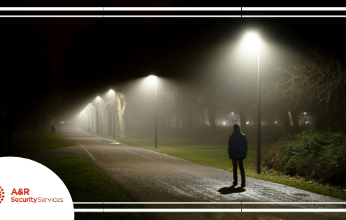 Staying safe at night, personal security, walking at night, staying safe while walking at night, walking alone at night, walking at night, A&R Security Services, A&R Security